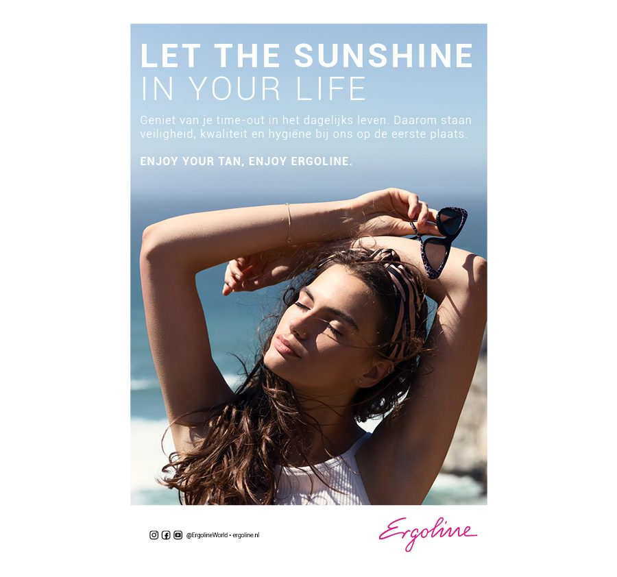 Poster A4 english let the sun shine nl